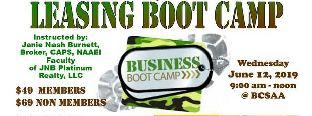 Leasing Boot Camp - June 12, 2019